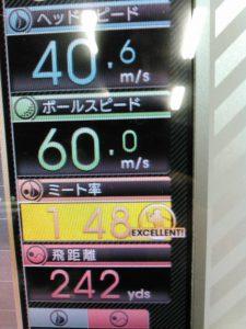 ヘッドスピードとミート率と飛距離