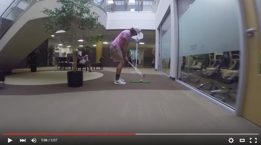 Callaway Office Trick Shots   Bryan Bros Golf